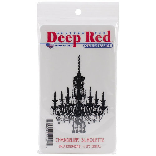 Deep Red Stamps - Cling Mounted Rubber Stamp - Chandelier Silhouette