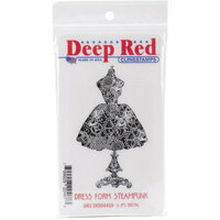 Deep Red Stamps - Cling Mounted Rubber Stamp - Dress Form Steampunk