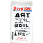 Deep Red Stamps - Cling Mounted Rubber Stamp - Art Soul Life
