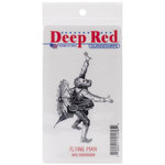 Deep Red Stamps - Cling Mounted Rubber Stamp - Flying Man