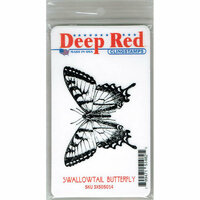 Deep Red Stamps - Cling Mounted Rubber Stamp - Swallowtail Butterfly