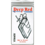 Deep Red Stamps - Cling Mounted Rubber Stamp - Bible and Rosary