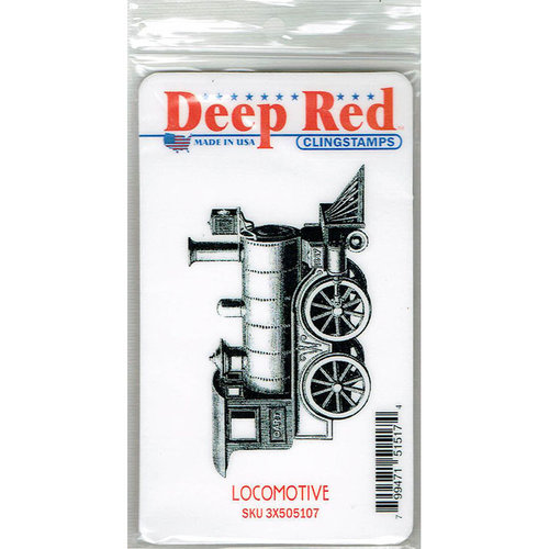 Deep Red Stamps - Cling Mounted Rubber Stamp - Locomotive