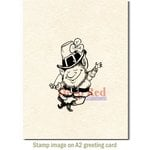 Deep Red Stamps - Cling Mounted Rubber Stamp - Lucky Leprechaun
