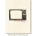 Deep Red Stamps - Cling Mounted Rubber Stamp - Classic TV