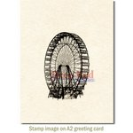 Deep Red Stamps - Cling Mounted Rubber Stamp - Ferris Wheel