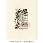 Deep Red Stamps - Cling Mounted Rubber Stamp - Corset Collage