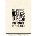 Deep Red Stamps - Cling Mounted Rubber Stamp - Grungy Christmas Wishes