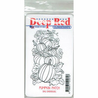 Deep Red Stamps - Cling Mounted Rubber Stamp - Pumpkin Patch