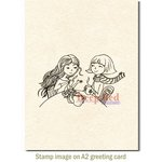 Deep Red Stamps - Cling Mounted Rubber Stamp - Tea Time
