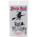 Deep Red Stamps - Cling Mounted Rubber Stamp - Halloween Witch