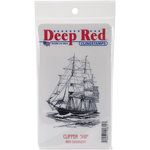 Deep Red Stamps - Cling Mounted Rubber Stamp - Clipper Ship