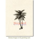 Deep Red Stamps - Cling Mounted Rubber Stamp - Coconut Palms