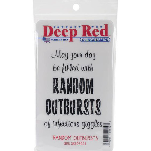 Deep Red Stamps - Cling Mounted Rubber Stamp - Random Outbursts