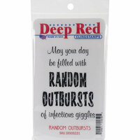 Deep Red Rubber Cling Stamp Random Outbursts Infectious Giggles
