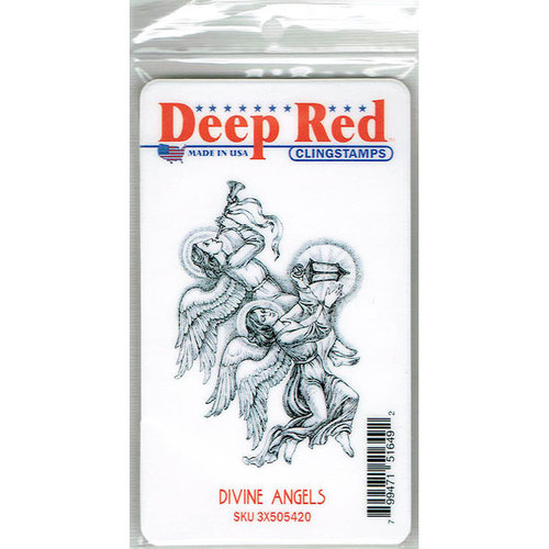 Deep Red Stamps - Cling Mounted Rubber Stamp - Divine Angels