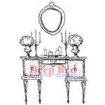 Deep Red Stamps - Cling Mounted Rubber Stamp - Antique Dressing Table
