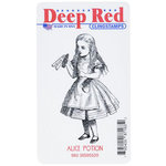 Deep Red Stamps - Cling Mounted Rubber Stamp - Alice Potion