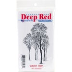 Deep Red Stamps - Cling Mounted Rubber Stamp - Winter Trees