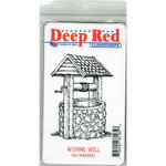 Deep Red Stamps - Cling Mounted Rubber Stamp - Wishing Well