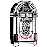 Deep Red Stamps - Cling Mounted Rubber Stamp - Jukebox