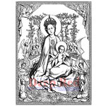 Deep Red Stamps - Christmas - Cling Mounted Rubber Stamp - Madonna and Child