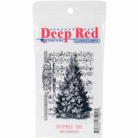Deep Red Stamps - Christmas - Cling Mounted Rubber Stamp - December Tree