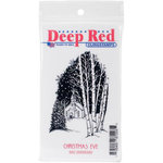 Deep Red Stamps - Christmas - Cling Mounted Rubber Stamp - Christmas Eve