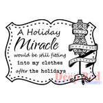 Deep Red Stamps - Christmas - Cling Mounted Rubber Stamp - Holiday Miracle
