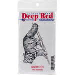 Deep Red Stamps - Cling Mounted Rubber Stamp - Winter Fox