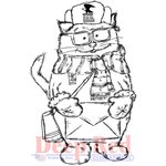 Deep Red Stamps - Cling Mounted Rubber Stamp - Litter Carrier