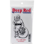 Deep Red Stamps - Christmas - Cling Mounted Rubber Stamp - Old Saint Nick