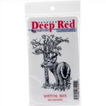 Deep Red Stamps - Cling Mounted Rubber Stamp - Whitetail Buck