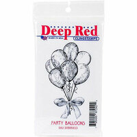 Deep Red Stamps - Cling Mounted Rubber Stamp - Party Balloons