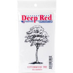 Deep Red Stamps - Cling Mounted Rubber Stamp - Cottonwood Tree