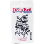 Deep Red Stamps - Cling Mounted Rubber Stamp - English Roses