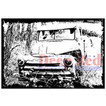 Deep Red Stamps - Cling Mounted Rubber Stamp - Abandoned Truck
