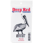 Deep Red Stamps - Cling Mounted Rubber Stamp - Pelican