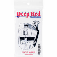 Deep Red Stamps - Cling Mounted Rubber Stamp - Vintage Camper