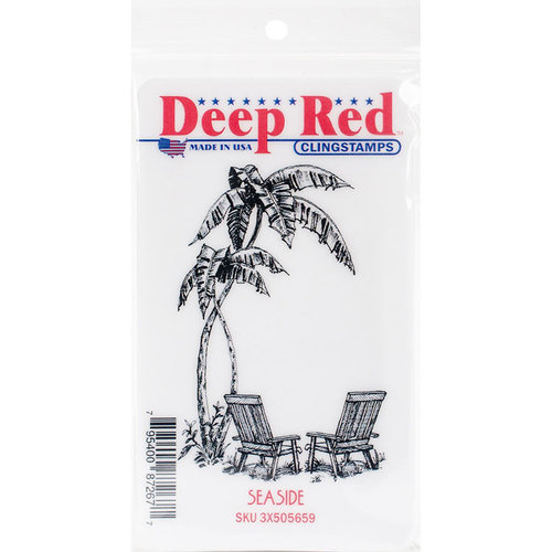 Deep Red Stamps - Cling Mounted Rubber Stamp - Seaside