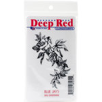 Deep Red Stamps - Cling Mounted Rubber Stamp - Blue Jays