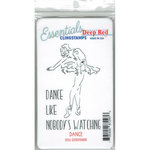 Deep Red Stamps - Cling Mounted Rubber Stamp - Dance Essentials