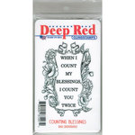 Deep Red Stamps - Cling Mounted Rubber Stamp - Counting Blessings