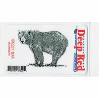 Deep Red Stamps - Cling Mounted Rubber Stamp - Grizzly Bear