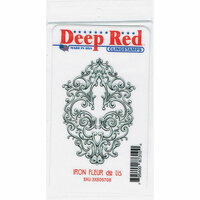 Deep Red Stamps - Cling Mounted Rubber Stamp - Iron Fleur de lis