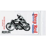 Deep Red Stamps - Cling Mounted Rubber Stamp - Motorcycle Racer