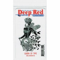 Deep Red Stamps - Cling Mounted Rubber Stamp - Queen of Time