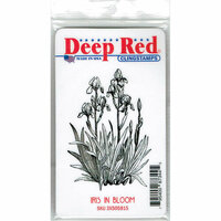 Deep Red Stamps - Cling Mounted Rubber Stamp - Iris in Bloom