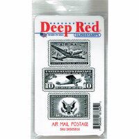 Deep Red Stamps - Cling Mounted Rubber Stamp - Air Mail Postage