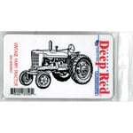 Deep Red Stamps - Cling Mounted Rubber Stamp - Vintage Farm Tractor